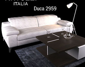 3D model model Sofa Natuzzi Duca 2959