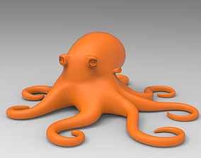 Octopus 3D print model illustration