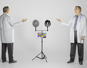 Male doctor looking up 284 3D asset