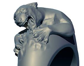 Tiger ring 3D print model printable