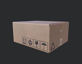 3D asset Cardboard Box 03