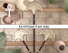 3D model Ancient Egyptian Fan Axe