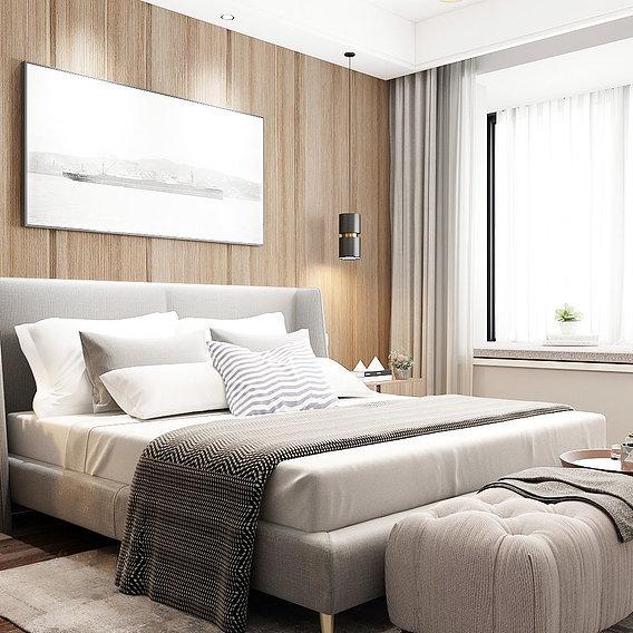 Bedroom Wood Wall Design