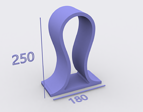 headset headphone stand 3D printable model