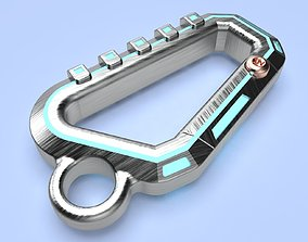 Cyberpunk carabiner V Men and Female cosplay 3d model for