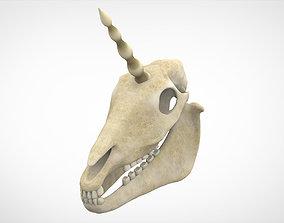 Unicorn Skull 3D asset