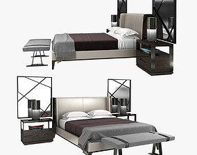 3D Holly Hunt bedroom furniture set