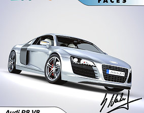Audi R8 Basic High quality detail 3D model