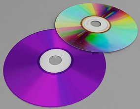 game-ready Compact disc cd 3d model
