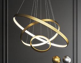 3D indoor modern circular ring chandelier hanging