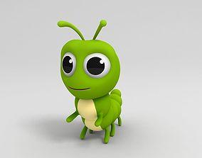 3D model Worm Character