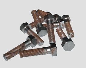 Rusty bolt set 3D