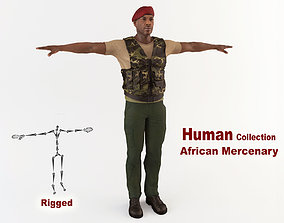 African Mercenary 3D model animated