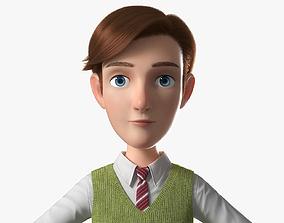 Cartoon Man NoRig 3D