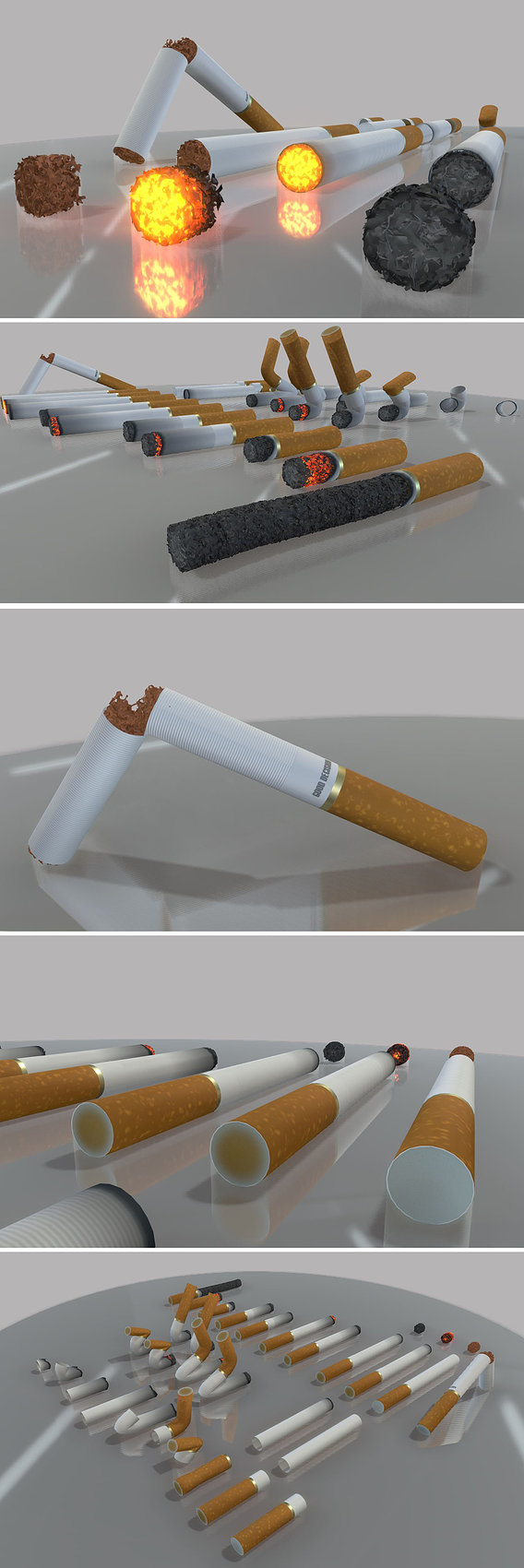Modular Cigarettes (High-Poly)