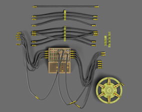 3D controller Controller and cables