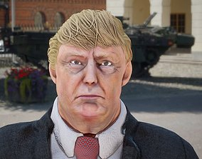 3D asset rigged President Donald Trump GameReady model