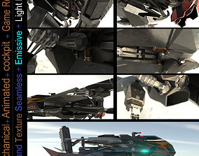 Space Fighter - PBR Game-Ready 3D asset