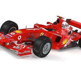 3D F1 Ferrari F2004