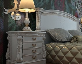 3D Baroque Nightstand Curbstone