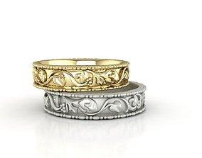 3D model couple ring bridal