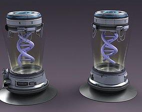Sci-fi Stereo imaging medical equipment DNA 3D model