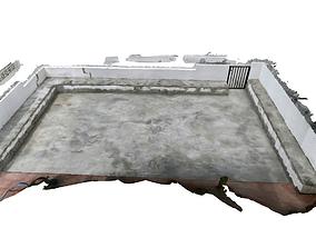 3D asset Concrete terrace