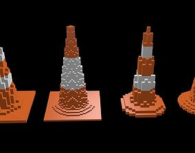 3D Traffic Cone Pack voxel