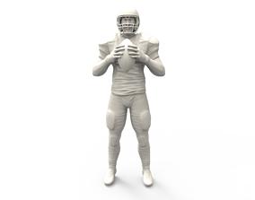 3d 3D printable model American footballer Pose