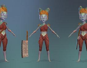 3D model realtime Demon warrior