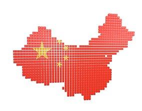 China Map Cube Style v1 001 3D model