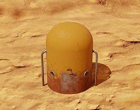 3D asset realtime Mars module and landscape