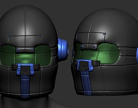High quality fantasy helmet high poly sculpt 3d printable