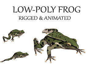 3D asset animated frog