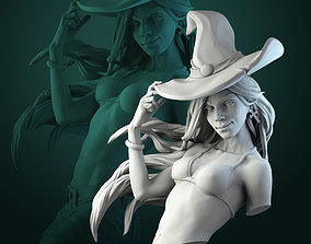 3D print model Anita the Young Witch bust