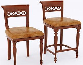 3D model verona mobili chairs