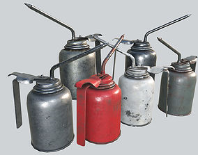 Oil Canisters Collection PBR 3D asset