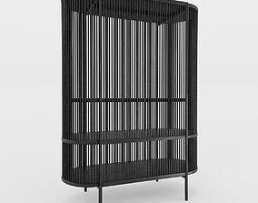 Bastone Cabinet Black with Doors 3D model