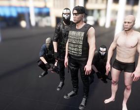 3D asset Character military bandit2
