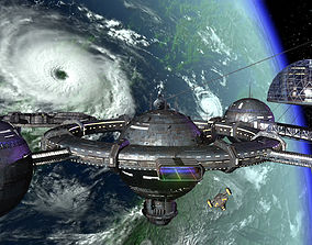 Orbital space station 3D model other