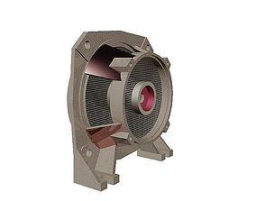 3D printable model Electric water pump bearing frame