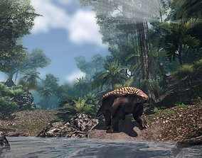 Nodosaur Jurassic Dinosaur 3D model animated
