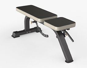 Weight flat bench adjustable 01 3D model