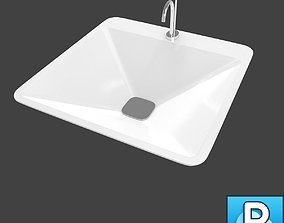 Sink and faucet tap 3D