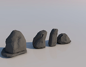 3D model Low Poly Rocks