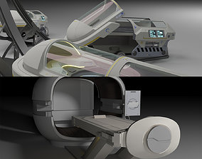 Sci Fi Cryo and Med Pods 3D