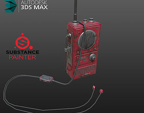 3D asset Army walkie talkie
