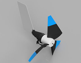 diy Horizontal Axis Wind Turbine 3D printable model