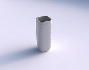 3D printable model Vase quadratic tall with rocky fibers