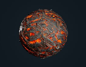 Lava Ground Seamless PBR Texture 13 3D model